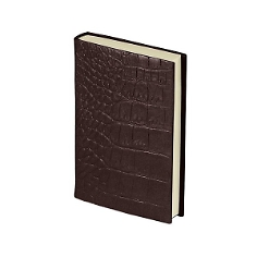 "Notizbuch ""Croco Mini"", mocca"